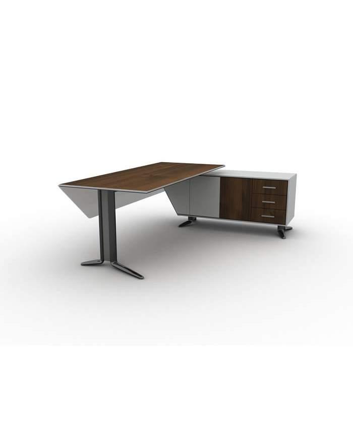 Metal Ayaklı Dolaplı Çekmeceli Etajerli Ofis Masası