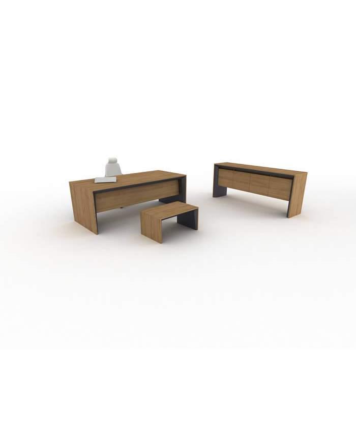 Modern Ahşap Makam Masası Sehpası Konsolu Takımı