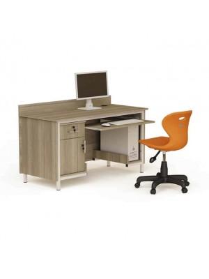 Çekmeceli Dolaplı Tek Kişilik Çalışma Masası - Bilgisayar Çalışma Masaları