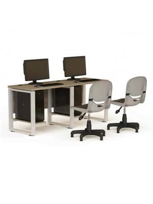 Metal Ayaklı İki Kişilik Çalışma Masası - Bilgisayar Çalışma Masaları