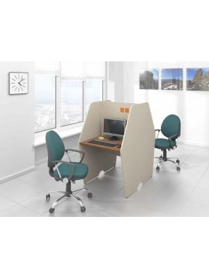 Bir Ön Bir Arka Bölmeli Çağrı Merkezi Masası - Çağrı Merkezi Masaları