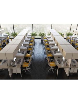Üst Bölümü Dolaplı Modern Çağrı Merkezi Masası - Çağrı Merkezi Masaları