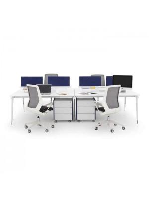 Dört Kişilik Keşonlu Workstation - Çalışma Masaları