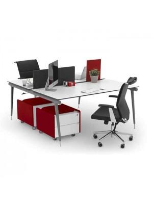 İki Kişilik Keşonlu Workstation - Çalışma Masaları