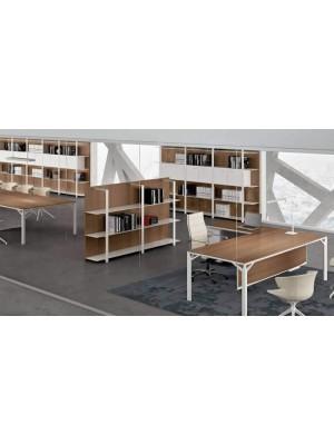 Metal Raflı Dolaplı Modüler Ofis Kitaplığı