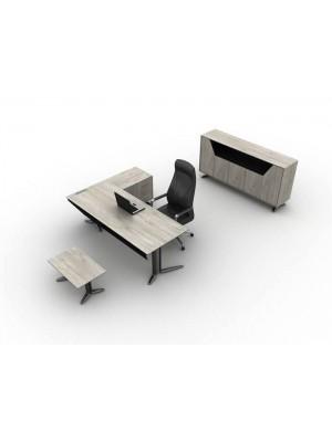Metal Ayaklı Modern Ahşap Ofis Makam Takımı