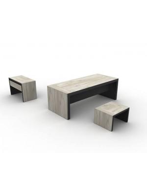 Modern Ofis Masası Sehpası Etajeri Takımı