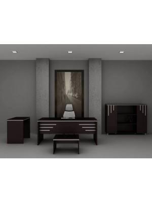 Venge Çizgili Ofis Modern Makam Takımı - Makam Takımları